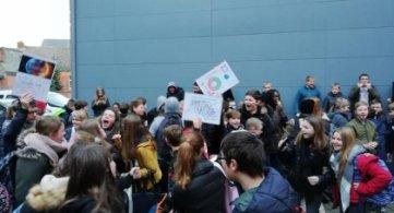 Les élèves de l'IPES d'Ath en action pour le climat !